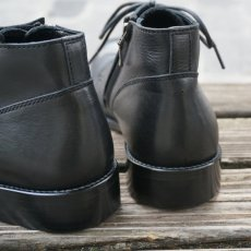 画像4: 【PADRONE/パドローネ】CHUKKA BOOTS with SIDE ZIP / BAGGIO (ブラック) (4)