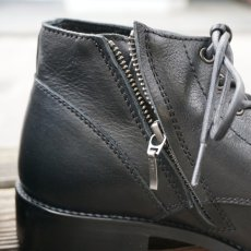 画像3: 【PADRONE/パドローネ】CHUKKA BOOTS with SIDE ZIP / BAGGIO (ブラック) (3)
