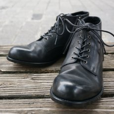 画像1: 【PADRONE/パドローネ】CHUKKA BOOTS with SIDE ZIP / BAGGIO (ブラック) (1)