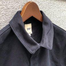 画像3: 【FOB FACTORY】フレンチ モルスキン ワークジャケット (ネイビー) (3)