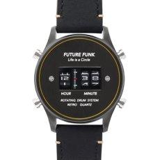 画像1: 【FUTURE FUNK /フューチャーファンク】FF102 ANA-DEGI ウォッチ(ブラック) (1)