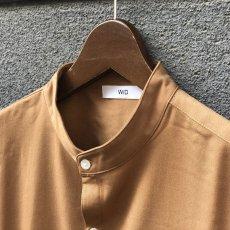 画像6: 【W/D】オーバーサイズ バンドカラーシャツ (3color) (6)