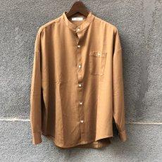 画像5: 【W/D】オーバーサイズ バンドカラーシャツ (3color) (5)