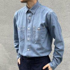 画像3: 【BIGMIKE/ビッグマイク】シャンブレーワークワークシャツ(2color) (3)