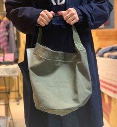 画像5: 【PUEBCO】VINTAGE TENT FABRIC ROUND BAG (5)