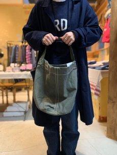 画像3: 【PUEBCO】VINTAGE TENT FABRIC ROUND BAG (3)