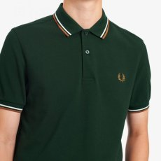 画像5: 【FRED PERRY/フレッドペリー】FRED PERRY SHIRT M3600 (M61: EVERGREEN/SNOW WHITE/DARK CARAMEL) (5)