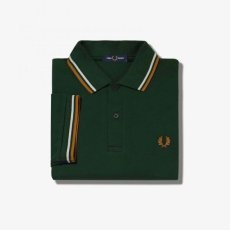 画像6: 【FRED PERRY/フレッドペリー】FRED PERRY SHIRT M3600 (M61: EVERGREEN/SNOW WHITE/DARK CARAMEL) (6)