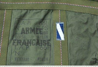 画像3: 【REMAKE】フランス軍 パラシュートBAG(オリーブ)