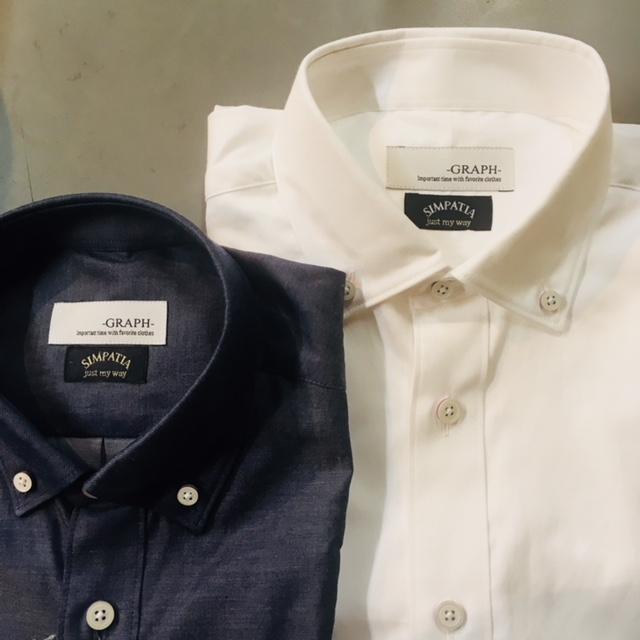 画像1: 【GRAPH】「玉名シャツ」 シャンブレー素材 ボタンダウンシャツ[日本製 | 熊本](2color) (1)