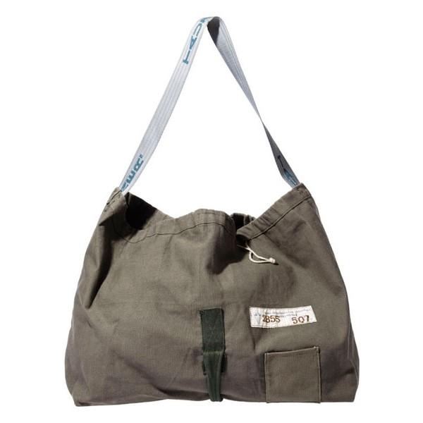 画像1: 【REMAKE】 VINTAGE MATERIAL SHOULDER BAG(オリーブ) (1)