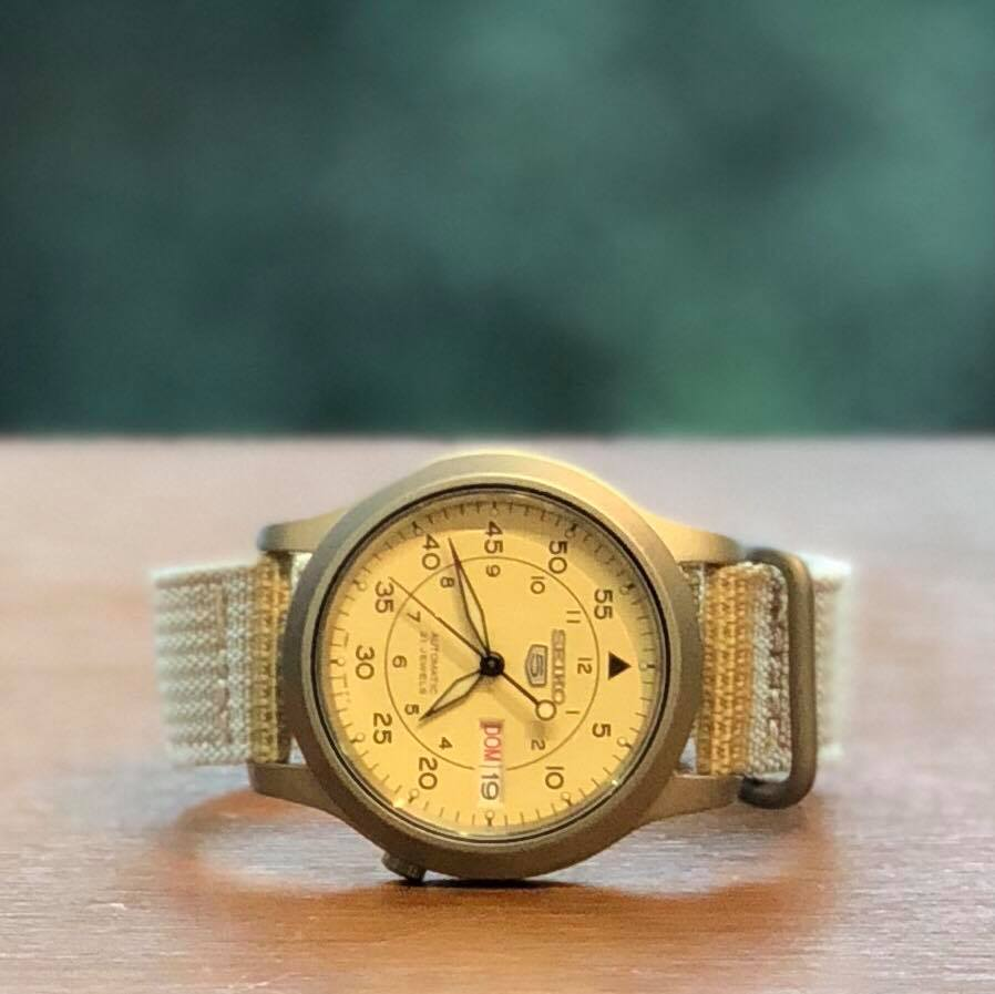画像1: 【Buyer's Select】SEIKO 5 MILITARY/SNK803K2(BEG) (1)