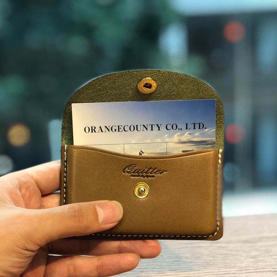画像1: 【quitter】栃木レザー ヴォーノアニリン×ジーンズ 名刺入れ カードケース(5color) (1)
