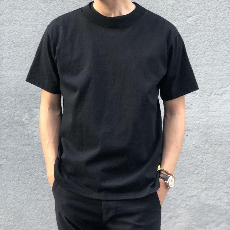 画像1: 【melple/メイプル】半袖 WaimeaクルーTee(ブラック) (1)