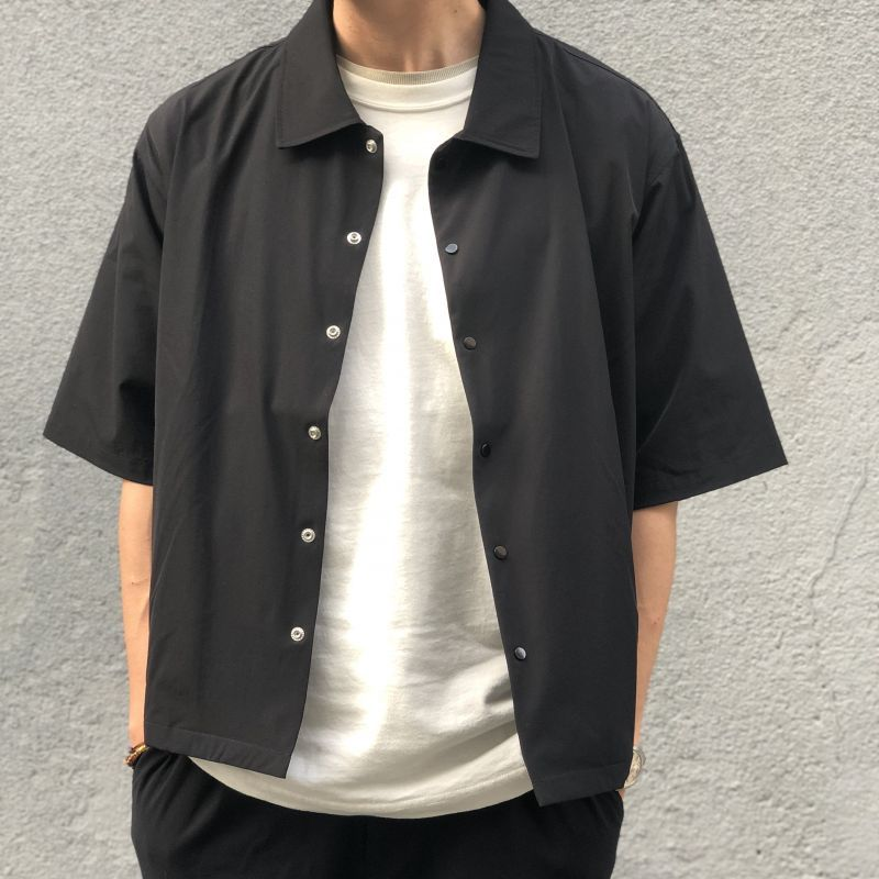 画像1: 【W/D】WEEKEND Confortable work shirt(BLACK) (1)