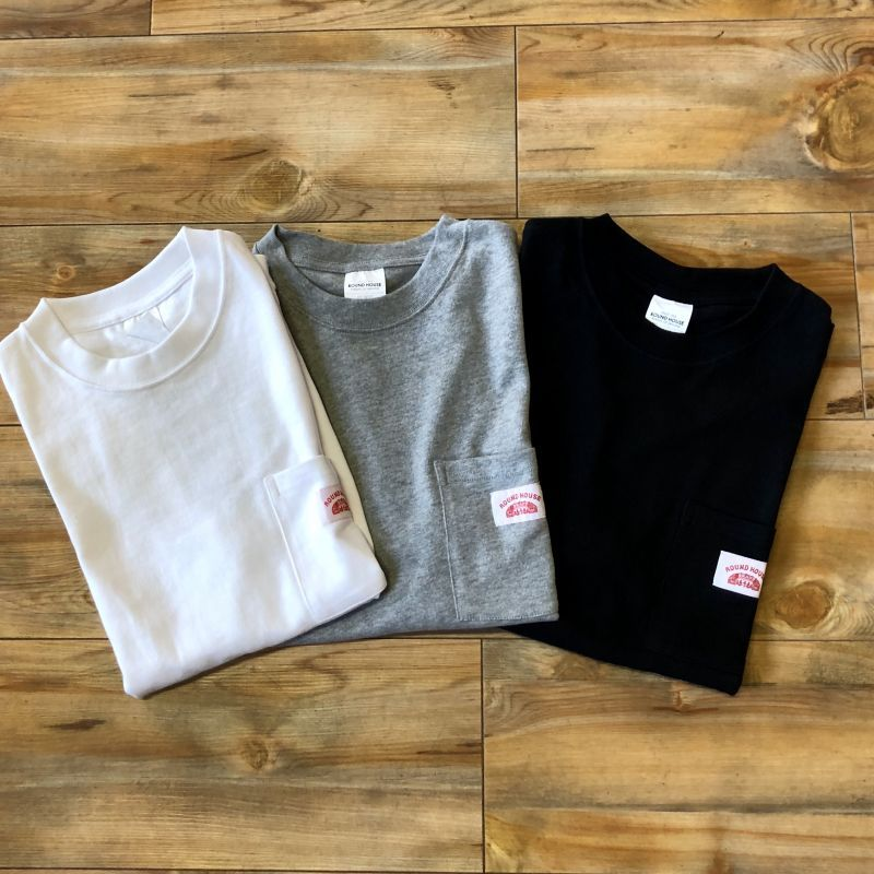 画像1: 【ROUND HOUSE/ラウンドハウス】ヘビーウェイトポケ付Tシャツ (3colors) (1)