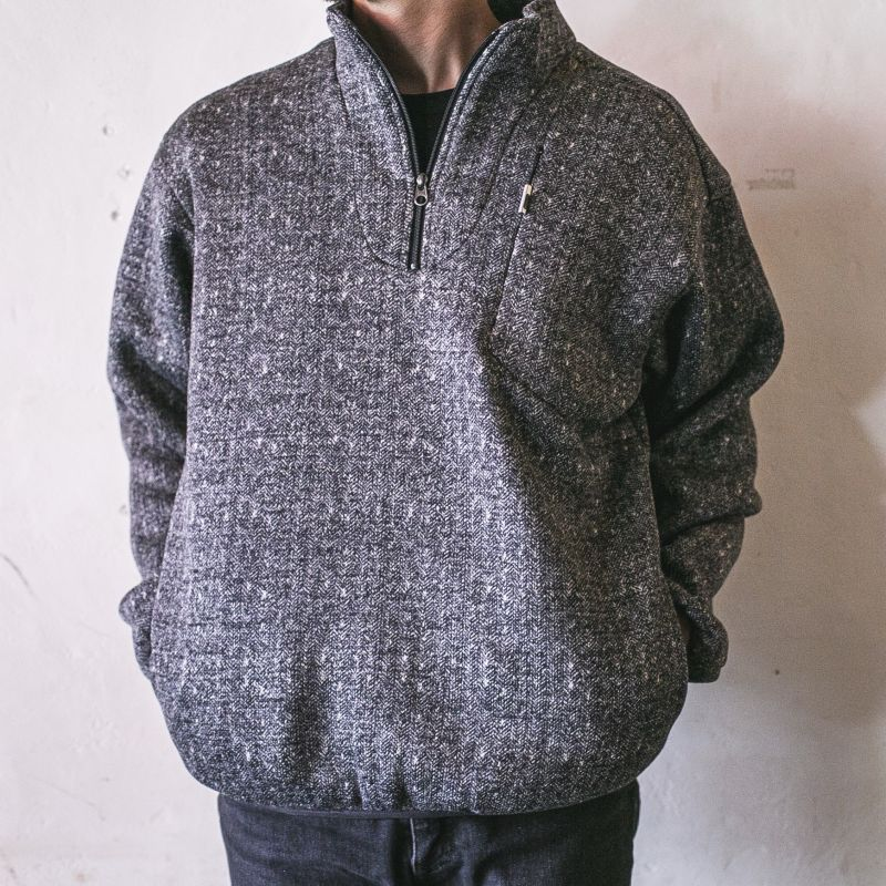 画像1: 【melple×ORANGECOUNTY】Marced Stand Pullover(BLACK) (1)