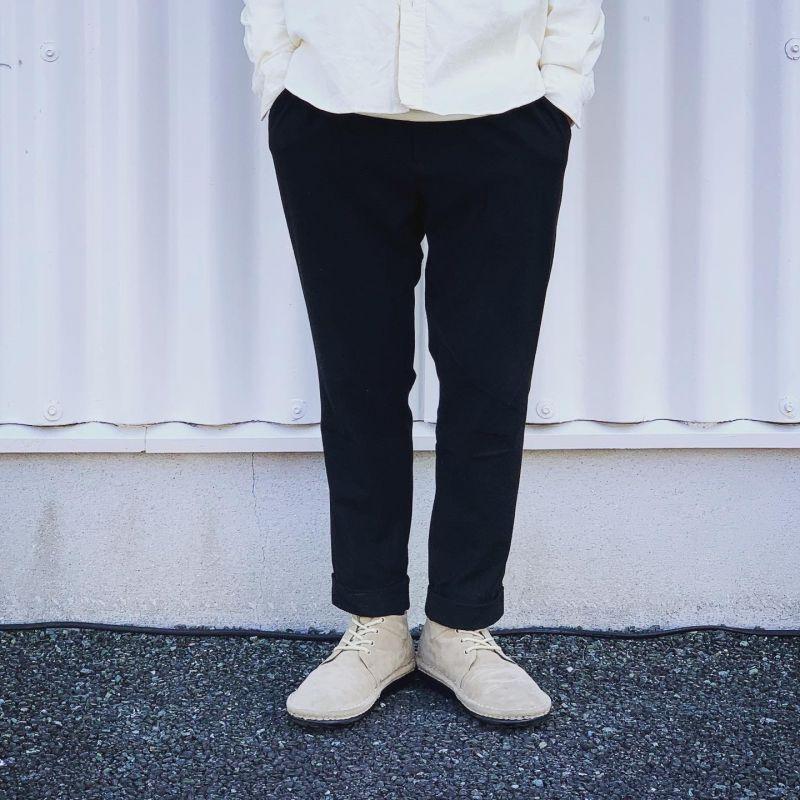 画像1: 【melple/メイプル】ウィンターキャット 1タックパンツ(ブラック) (1)