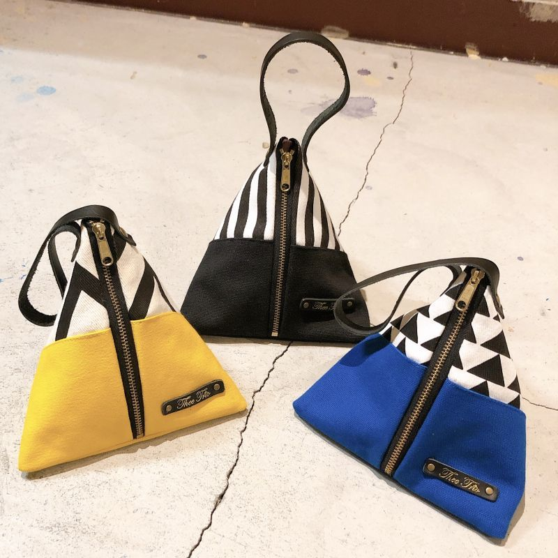 画像1: 【Thee Trio/ザ・トリオ】Triangle Pouch (3color) (1)