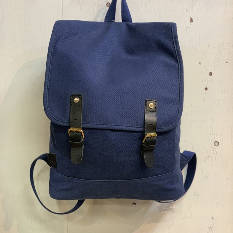 画像1: 【S&nd/セカンド】FLAP DESIGN BACKPACK (NAVY) (1)