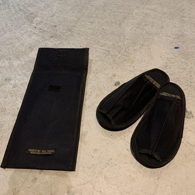 画像1: 【PUEBCO】WAXED CANVAS PORTABL SLIPPER Black(Small /Large) (1)