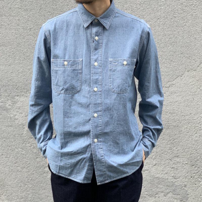画像1: 【BIGMIKE/ビッグマイク】シャンブレーワークワークシャツ(2color) (1)