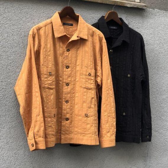 画像1: 【modem design/モデムデザイン】オープンカラーキューバシャツ【2COLORS】 (1)