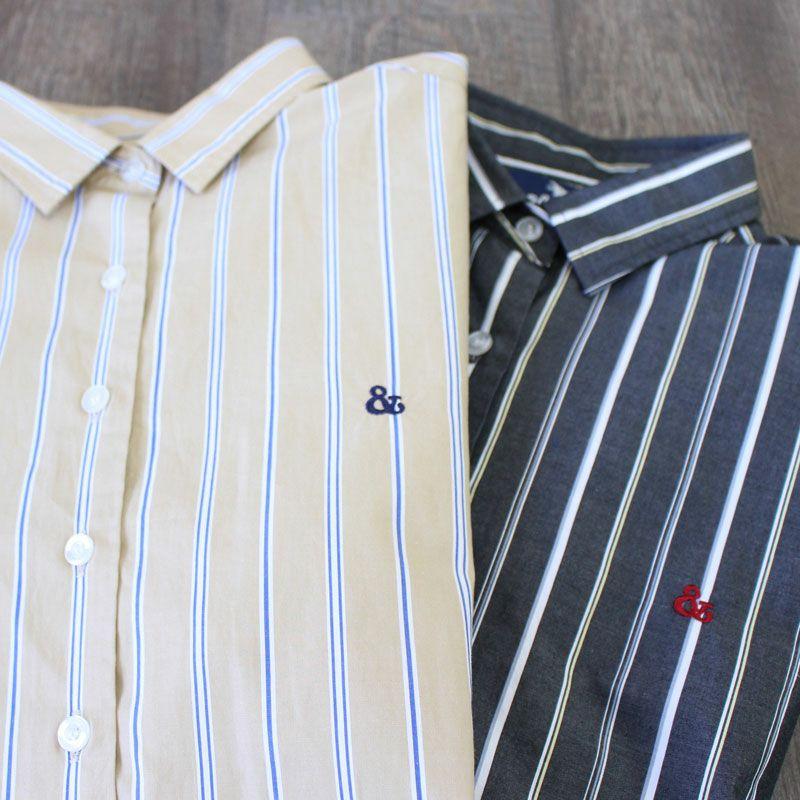 画像1: 【S&nd/セカンド】ブロードストライプチュニックシャツ(2color) (1)