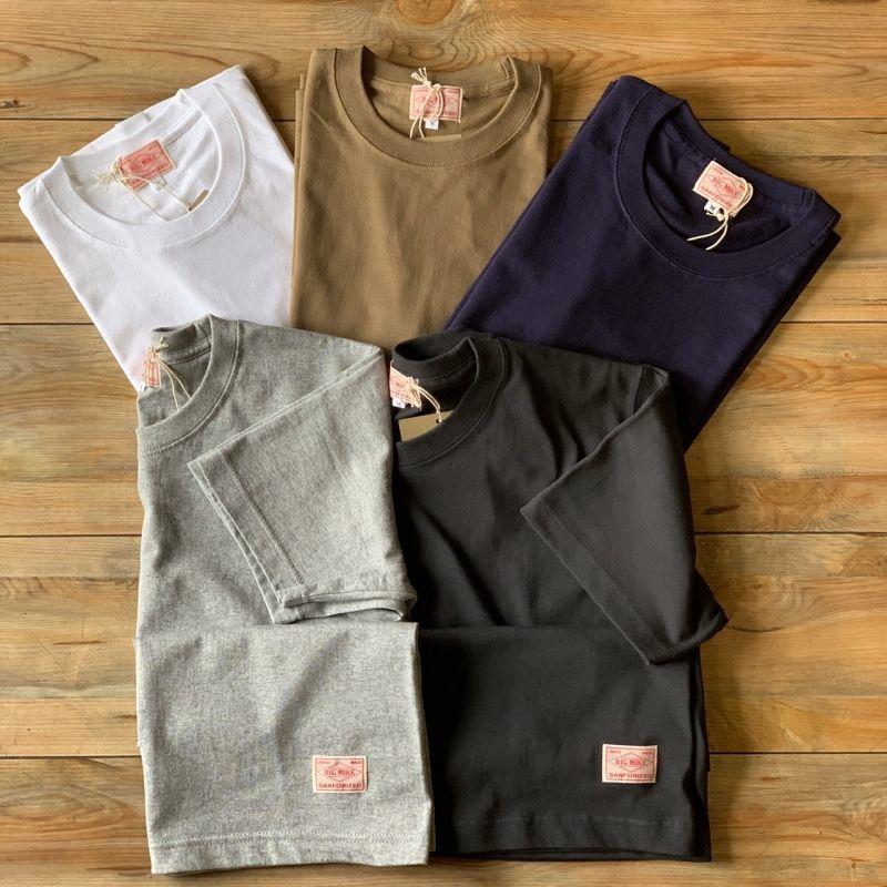 画像1: 【BIGMIKE/ビッグマイク】USAコットン 7.2オンス ヘビーウェイト 無地Tシャツ(5colors) (1)