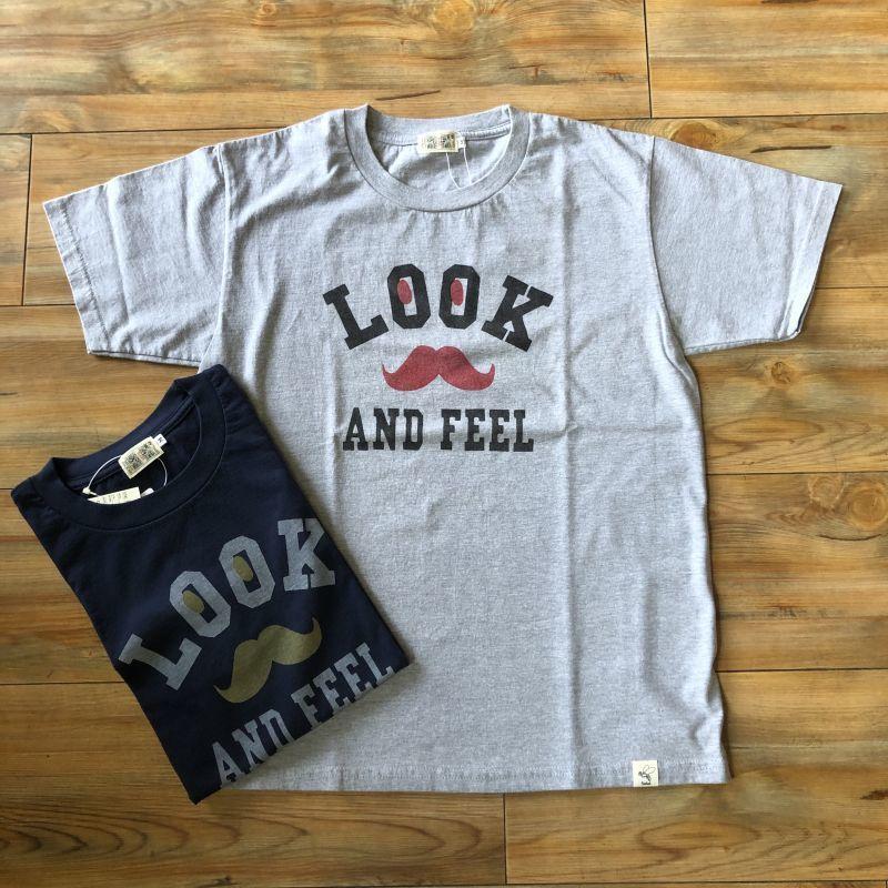 画像1: プリントロゴTシャツ 『LOOK AND FEEL』(2color) (1)