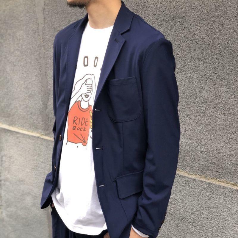 画像1: 【melple/メイプル】トムキャット 3Bジャケット(ネイビー) (1)