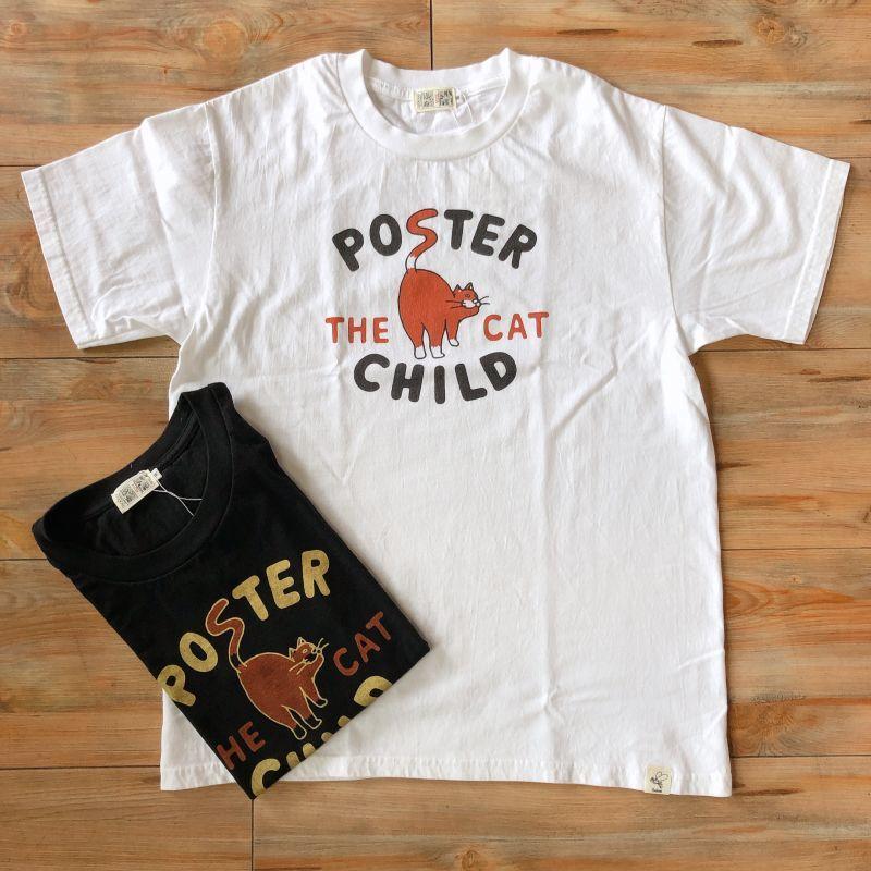 画像1: プリントロゴTシャツ 『POSTER CHILD THE CAT』(2color) (1)