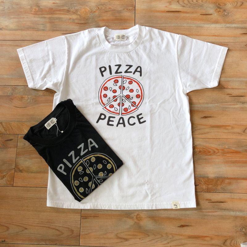 画像1: プリントロゴTシャツ 『PIZZA PEACE』(2color) (1)