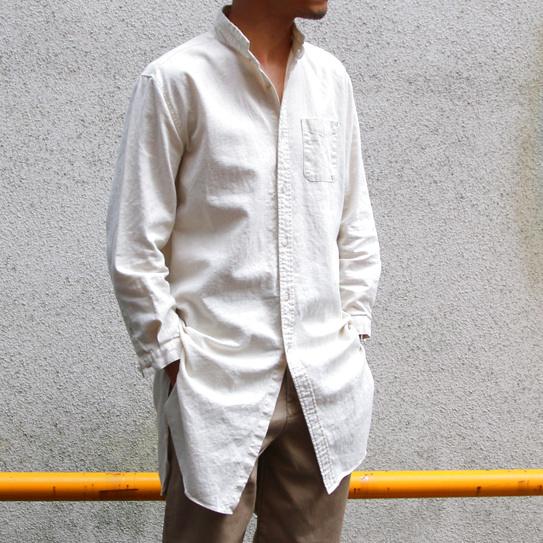 画像1: 【Upscape Audience】ソフトリネンコットンキャンバスローマシャツコート【MADE IN JAPAN】『日本製』/ Upscape Audience (2colors) (1)