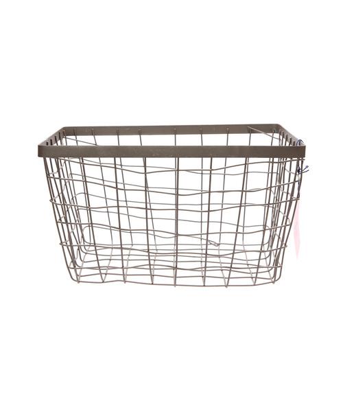 画像1: 【PUEBCO】WIRE BASKET RECTANGLE BASKET ワイヤーレクタングルバスケット (1)