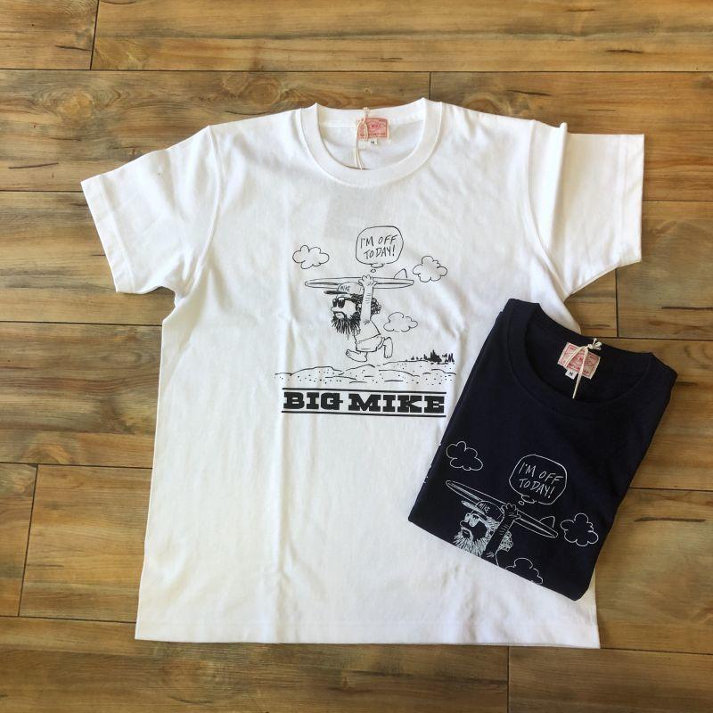 """画像1: 【BIGMIKE/ビッグマイク】USAコットン 7.2オンス ヘビーウェイト プリントTシャツ""""Surf""""(2colors) (1)"""