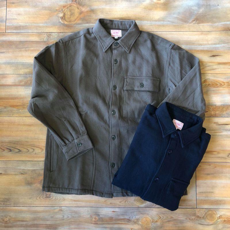 画像1: 【BIGMIKE/ビッグマイク】ヘビー フランネル ワークシャツジャケット【2COLORS】 (1)