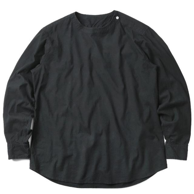 画像1: 【ルーマニア軍】デッドストック スリーピングシャツ オーバーダイ【ブラック】 (1)