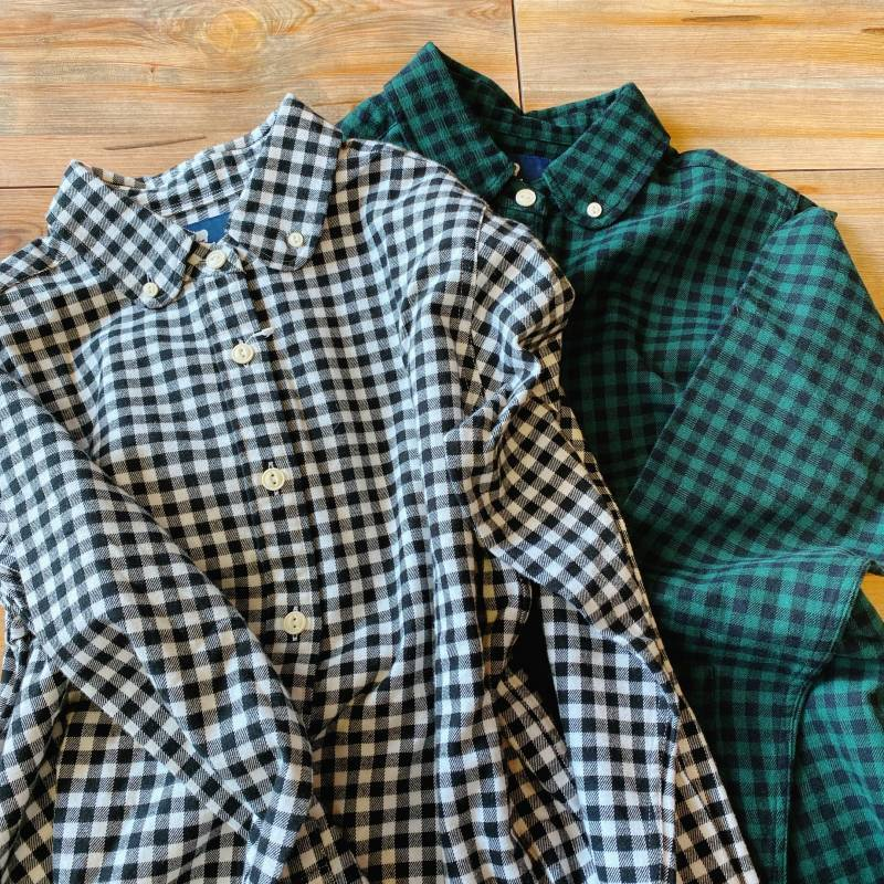 画像1: 【S&nd/セカンド】ギンガムチェックネルシャツ(2color) (1)
