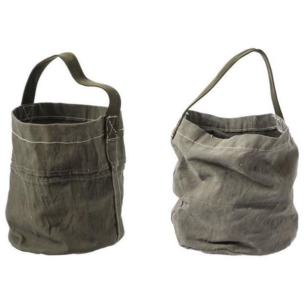 画像1: 【PUEBCO】VINTAGE TENT FABRIC ROUND BAG (1)