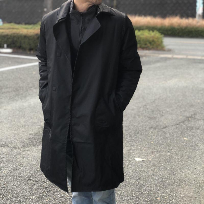 画像1: 【melple/メイプル】Wバルカラーコート (ブラック) (1)