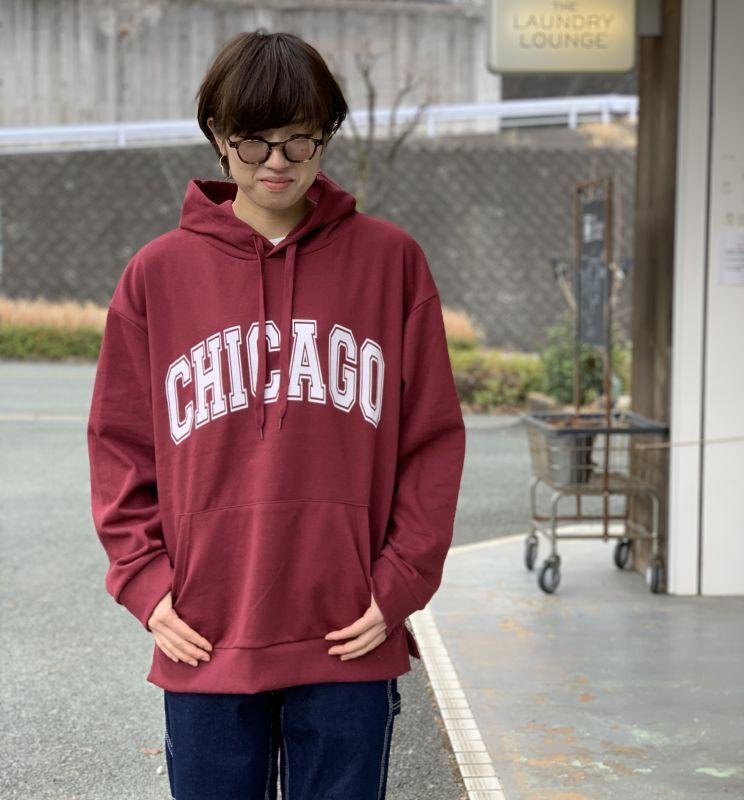 画像1: 【FAVORITO】 カレッジスウェットパーカー(CHICAGO) (1)